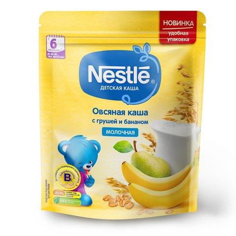 """Каша молочная """"Nestle"""" овсяная с грушей и бананом 200г"""