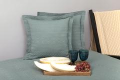 Элитная наволочка декоративная Зефир зеленая от Luxberry