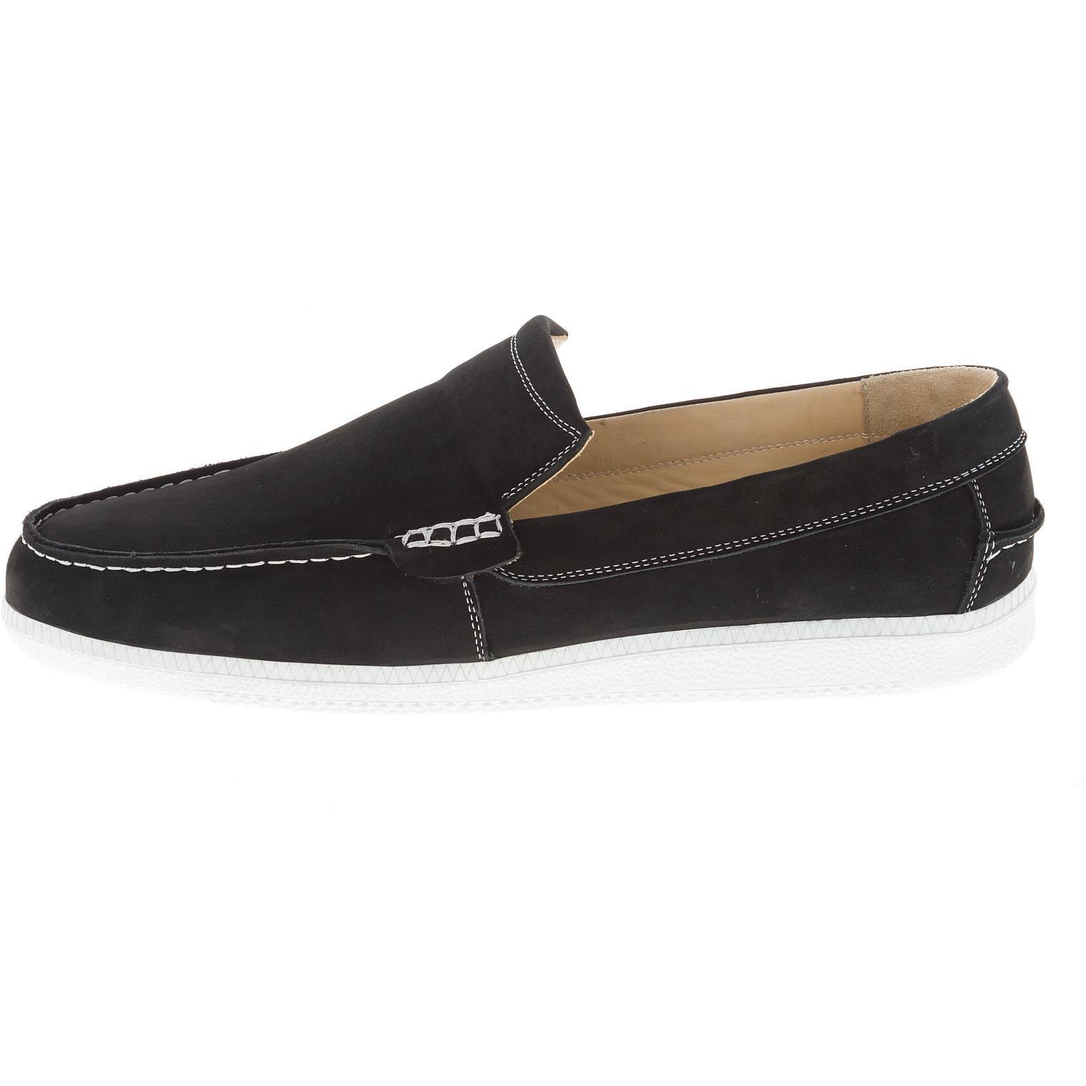 650396 мокасины мужские черные больших размеров марки Делфино
