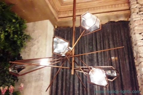 The Harlow Dried Flowers Chandelier by Gabriel Scott ( bronze )