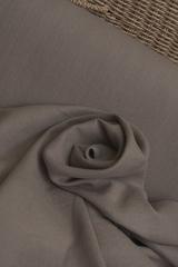 Широкая полульняная ткань цвет КАКАО