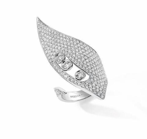 Кольцо из серебра с фианитами в стиле MESSIKA