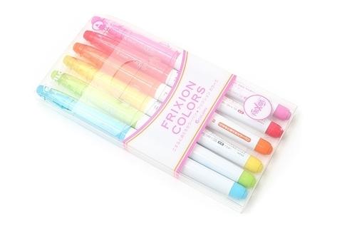 Стираемые маркеры Pilot FriXion Colors (6 шт. — набор №1)