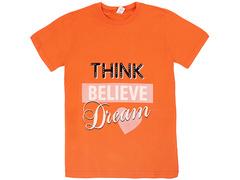 18059-3 футболка для девочек, оранжевая