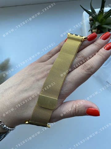 Ремешок Apple watch 38/40mm Milanese Loop /gold/ золото