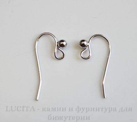 Швензы - крючки с шариком, 20х12 мм (цвет - платина), пара