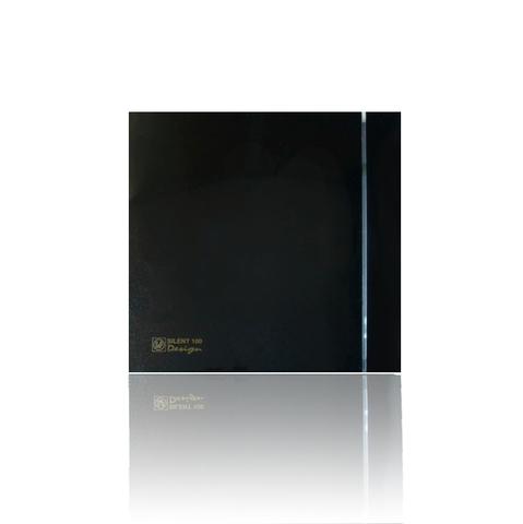 Вентилятор накладной S&P Silent 200 CRZ Design 4C Black (таймер)