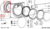 Манжета люка (уплотнитель двери) для стиральной машины Whirlpool (Вирпул) 481246668784