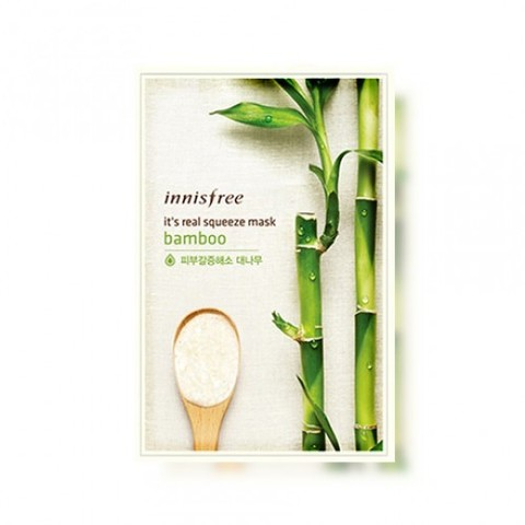 Innisfree Маска для лица с экстрактом бамбука It's Real Squeeze Mask Вamboo