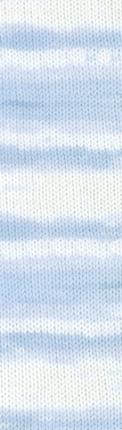 Пряжа Alize Baby Best Batik 6669 бело-голубой