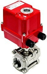 T-EAV920.50 Электрический шаровой клапан GGG 40.3, PTFE