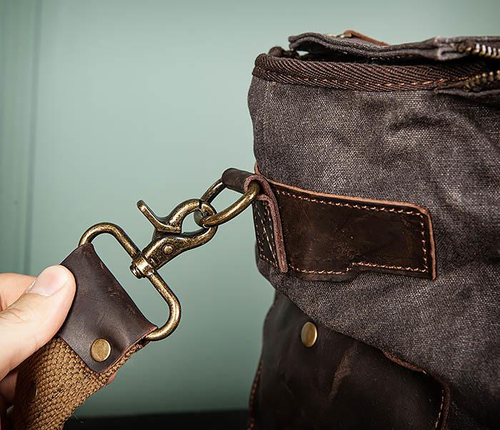 BAG499-1 Мужская дорожная сумка из ткани с ремнем фото 05