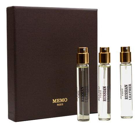 Memo Russian Leather edp 3x10ml refill