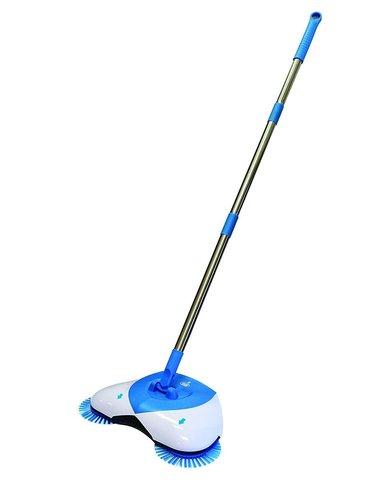 Механический веник Spin Broom (Ураган) собирает с пола пыль, грязь,...