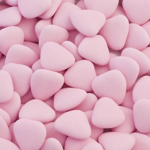 Сердца мини розовые с шоколадом