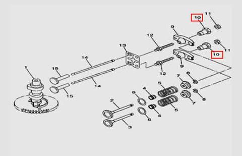 Фиксатор шпильки клапана для лодочного мотора F5 Sea-PRO(5-10)