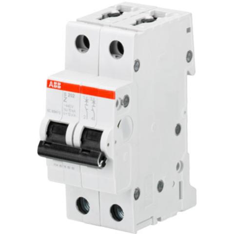 Автоматический выключатель 2-полюсный 1 А, тип Z, 6 кА S202 Z1. ABB. 2CDS252001R0218
