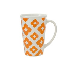 Кружка Мега Boston Warehouse Hip Patterns оранжевая