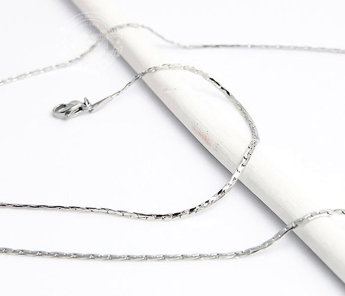 SSNH-0185 Стильная стальная цепочка «Spikes»плоского сечения (55 см)