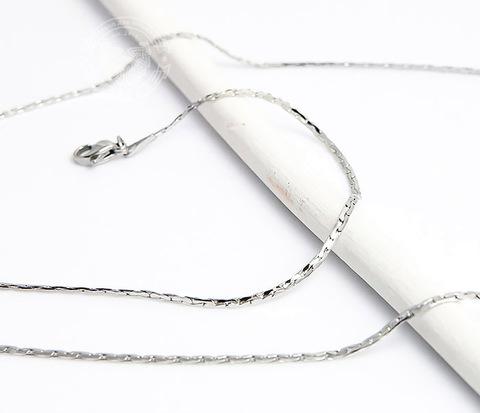 Стильная стальная цепочка «Spikes»плоского сечения (55 см)