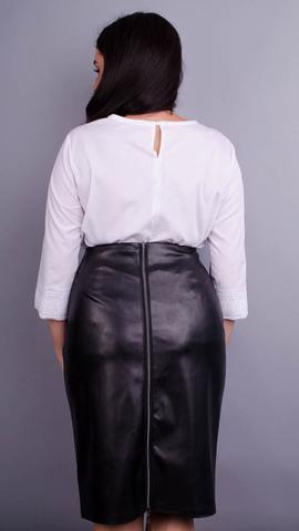 Марьяна. Нежная блуза для больших размеров. Белый.