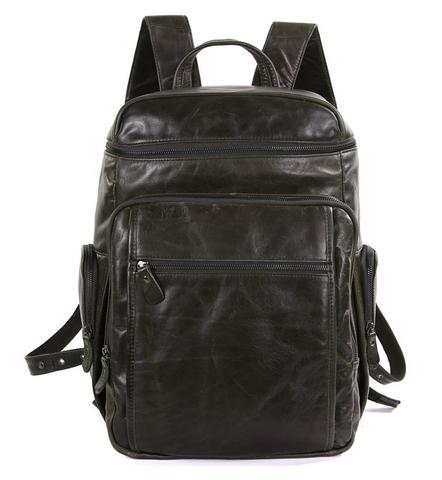 Мужской кожаный рюкзак JMD 7202