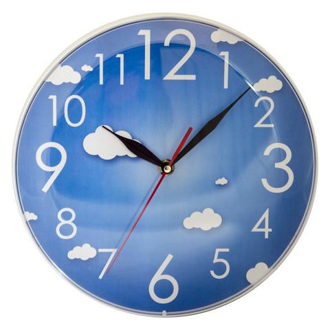 Часы настенные Небо, 25 см., голуб., пластик Apeyron PL 1712 036