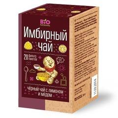 Чай Имбирный черный с лимоном и медом, 20 пак. (Фора-Фарм)
