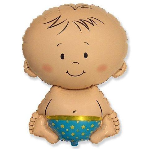 Фигурный шарик из фольги Карапуз-Мальчик