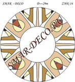 Эскиз для росписи, Зеркало диаметр 29см, SMAR-zmk-14