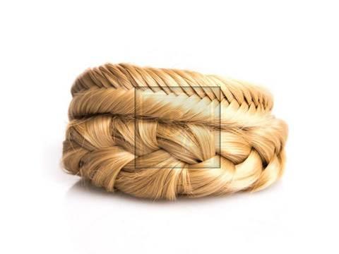 Накладная коса из натуральных волос оттенок карамель