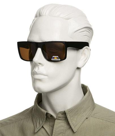 Очки с коричневыми поляризованными линзами  Артикул: А02. Без супернакомарника.