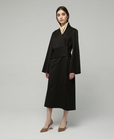 Платье с поясом-корсетом с шелковым платком в комплекте