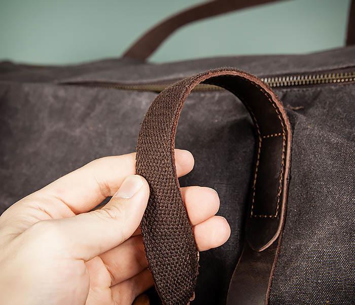BAG499-1 Мужская дорожная сумка из ткани с ремнем фото 11