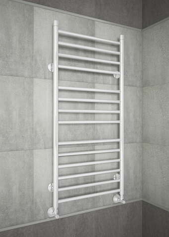 Avrora White - белый полотенцесушитель из нержавеющей стали.