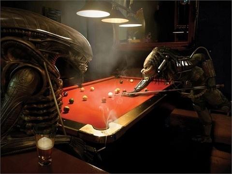 Poster — Alien vs. Predator Pool Game