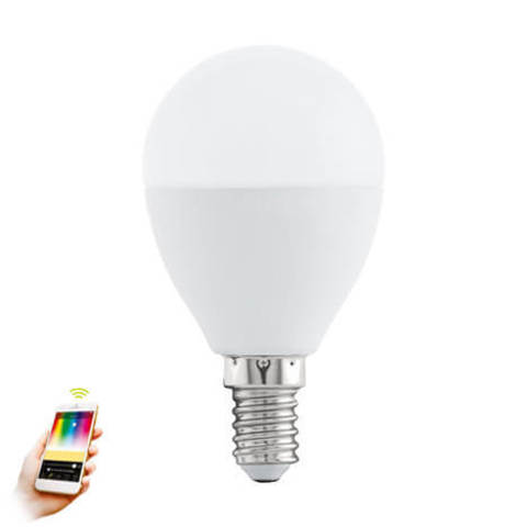 Лампа LED RGB диммируемая Умный свет Eglo EGLO CONNECT LM-LED-E14 5W 400Lm 2700-6500K P50 11672
