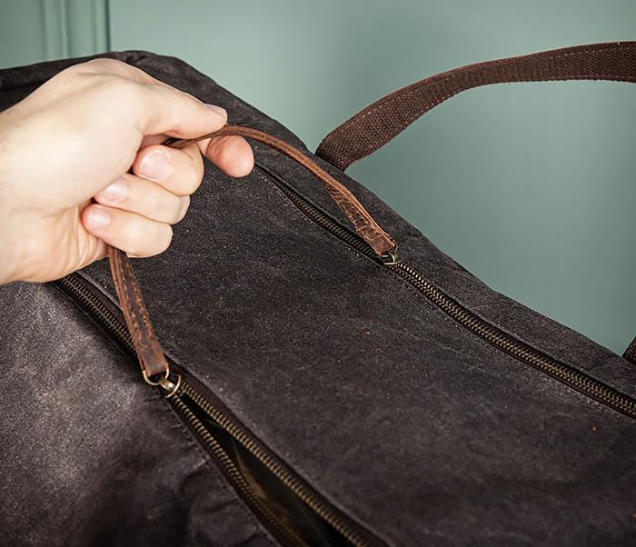BAG499-1 Мужская дорожная сумка из ткани с ремнем фото 12