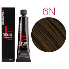 Goldwell Topchic 6N (темно-русый) - Cтойкая крем краска