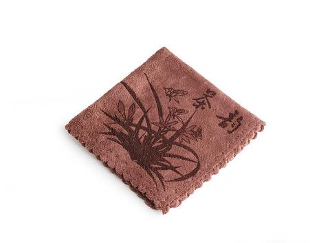 """Полотенце для чайной церемонии """"Орхидея"""" 29 х 29 см (коричневое). Интернет магазин чая"""