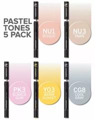 Набор маркеров Chameleon Pastel Tones, пастельные тона, 5 шт.