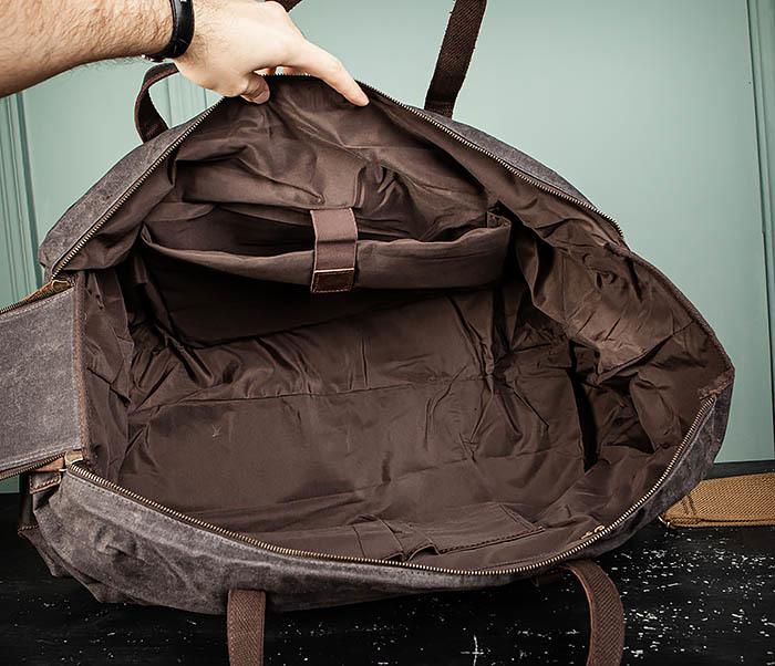 BAG499-1 Мужская дорожная сумка из ткани с ремнем фото 14