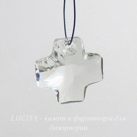 6866 Подвеска Сваровски Крестик Crystal (20 мм) ()