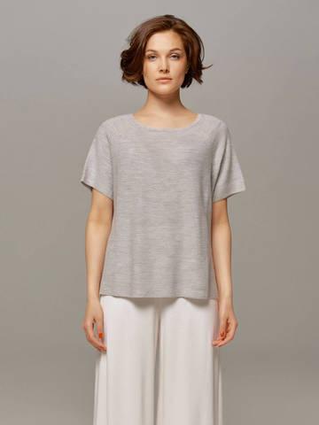 Женский серый пуловер LE TRICOT - фото 1