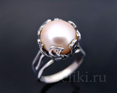 кольцо с жемчугом кс-7190