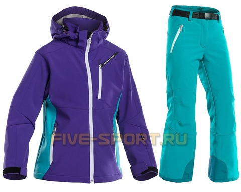 Лыжный костюм  8848 Altitude Apex Softshell/Wilbur детский Purple/Turquoise