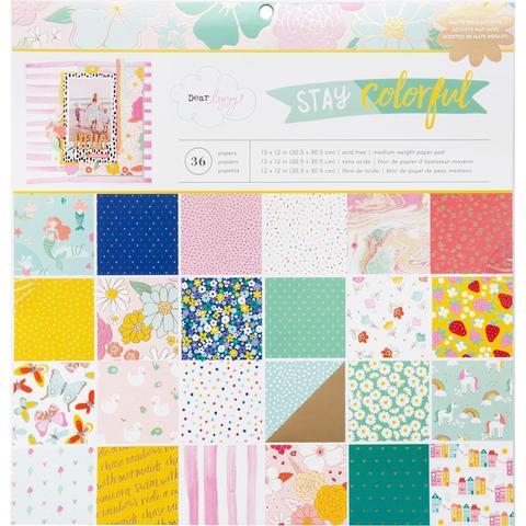 Набор односторонней бумаги  30х30см -Dear Lizzy Stay Colorful- 36л