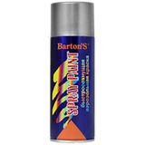 Краска аэрозольная Barton's Spray Paint СЕРЕБРО 520 мл (16шт/кор)