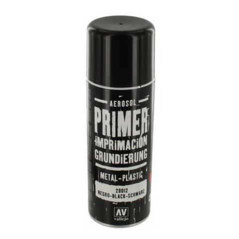 28012 Primer Metal-Plastic Black Грунт в Аэрозоли Металл-Пластик Черный, 400 мл Acrylicos Vallejo