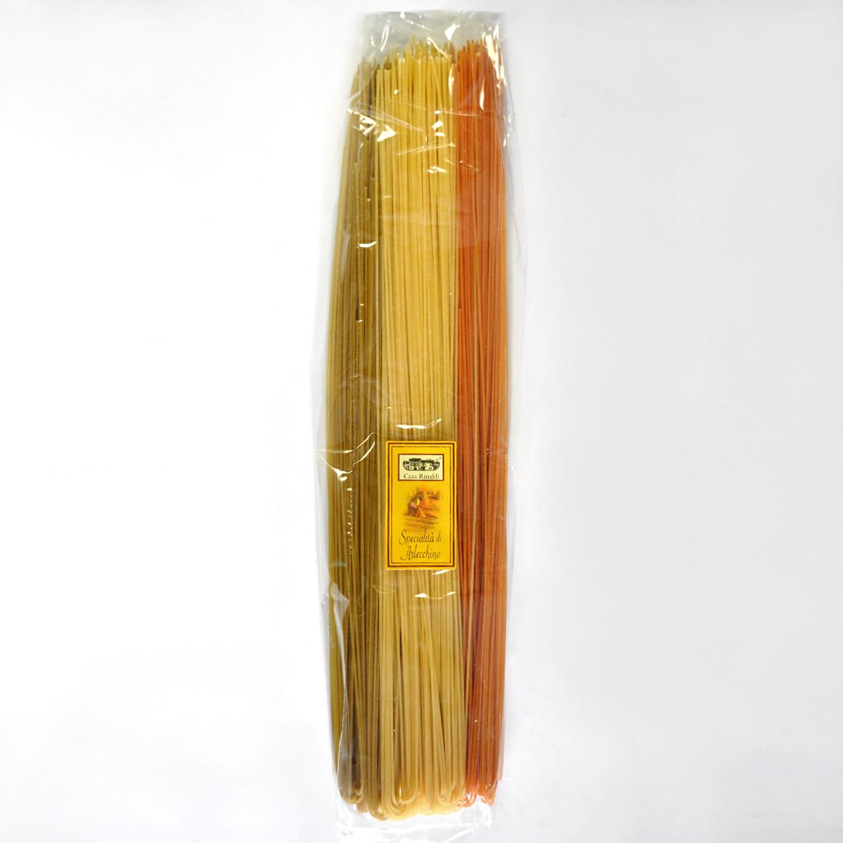 Паста цветная Спагетти Арлекино Casa Rinaldi 1 кг